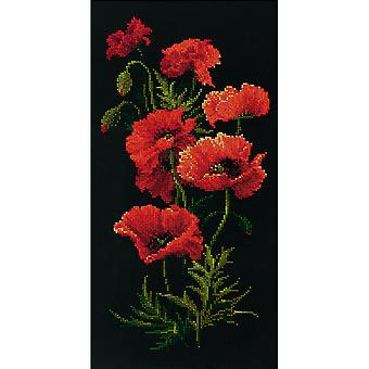 Poppies Counted Cross Stitch Kit-9.75