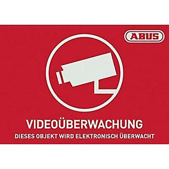 Warning label CCTV Languages German (W x H) 74 mm x 52.5 mm ABUS AU1421