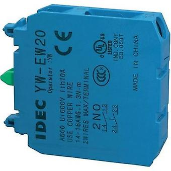 Contact 2 makers momentary 240 Vac Idec YW-serie 1 pc(s)