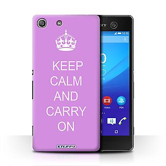 STUFF4 Case/Cover for Sony Xperia M5/Carry On/Pink/Keep Calm