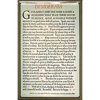 Desiderata embossed steel wall sign  300mm x 200mm (hi)