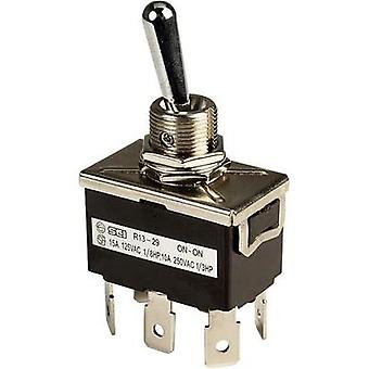 Toggle switch 250 Vac 10 A 2 x On/On SCI R13-29B latch 1 pc(s)