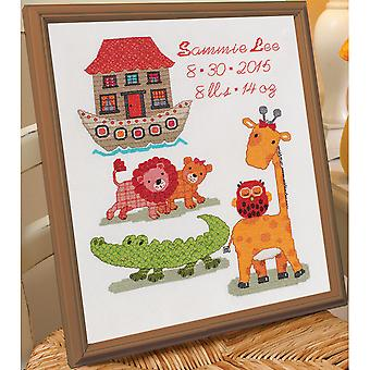 Two By Two Birth Record Counted Cross Stitch Kit-10