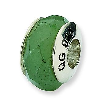 Sterling Silver Reflections Aventurine Stone Bead Charm