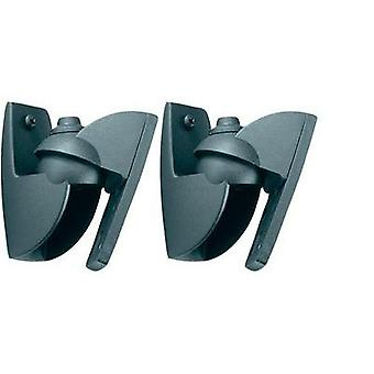 Speaker wall mount Tiltable, Swivelling Distance to wall (max.): 3 cm Vogel´s VLB 500 Black 1 pair