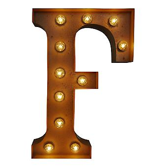 Large Vintage Letter Lights - F