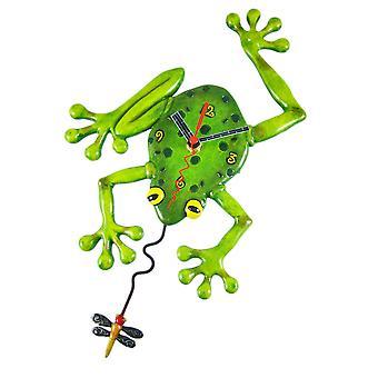 Allen ontwerpt 'Kikker Fly' slinger Wandklok
