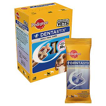 Stamtavla C & t Dentastix medelstor hund 10-25kg 28stk (4-Pack)