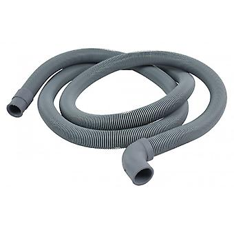 HQ air supply hose 22 mm curved-19 mm straight 2.00 m