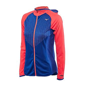 Mizuno AW16 Womens Breath Thermo Body Mapping Hoody Small Blue