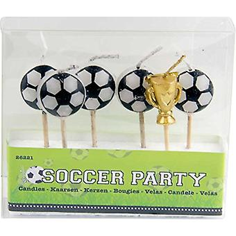 Football Mini Candle set ball Cup EM World Cup football party