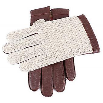 Dents Cotswold Cotton Crochet Back Driving Gloves - English Tan