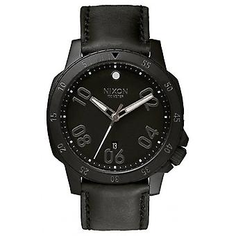 Nixon The Ranger Leather Watch - All Black