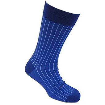 Tyler and Tyler Pinstripe Socks - Light Blue/Blue