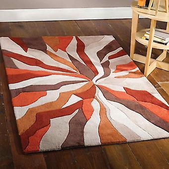 Uendelig Splinter Orange rektangel tæpper Funky tæpper