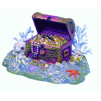 Sandimas Reef Treasure Chest DFSR (Vissen , Decoratie , Ornamenten)