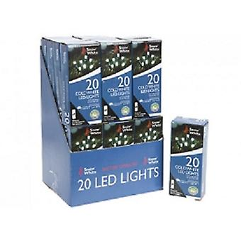 20 Cold White LED Fairy Lights