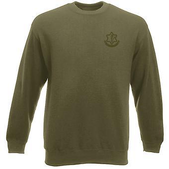 Isreali Defense Force IDF geborduurd Logo - Heavyweight Sweatshirt