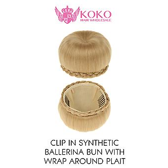 Clip In Synthetic Ballerina Bun With Wrap Around Plait