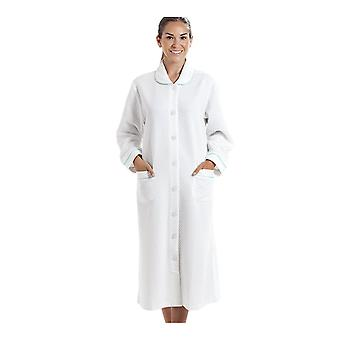 Camille Womens White House Coat With A Blue Dot Print