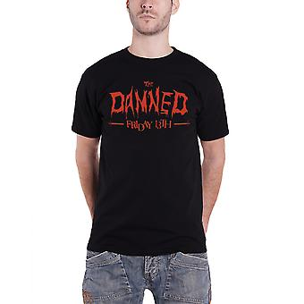 The Damned Mens T Shirt Black Friday the 13th Album Cover band Logo Official
