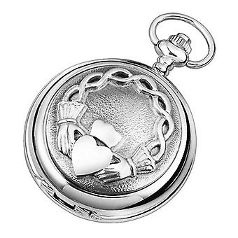 Woodford Claddagh Quartz Chain Pocket Watch - Silver
