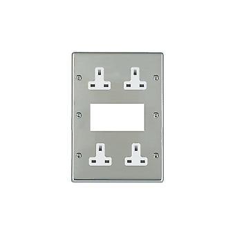 Hamilton Litestat Hartland Bright Stainless Chrome EURO4 Aperture+4 X13A Un-Socket WH