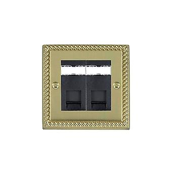 Hamilton Litestat Cheriton georgiano polido bronze 2G RJ12 Outlet-Unshield BL