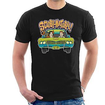 Camiseta sobrenatural Scooby Doo mezcla hombres