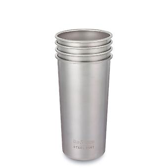 **SALE**Klean Kanteen 592 ml Stainless Steel Pint Cup Pack of 4 (Brush Stainless)