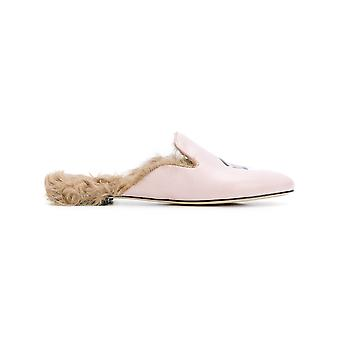 Chiara Ferragni ladies CF1638 pink leather moccasins