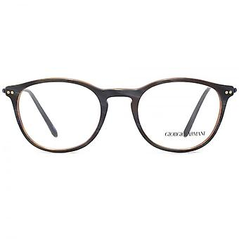 Giorgio Armani AR7125 Glasses In Matte Grey Horn