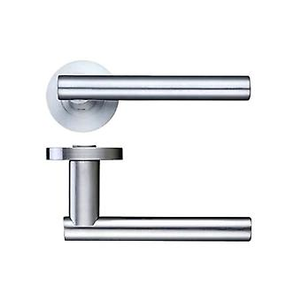 Zoo Lucca Lever - Screw On Rose - Satin Chrome - ZPZ090SC