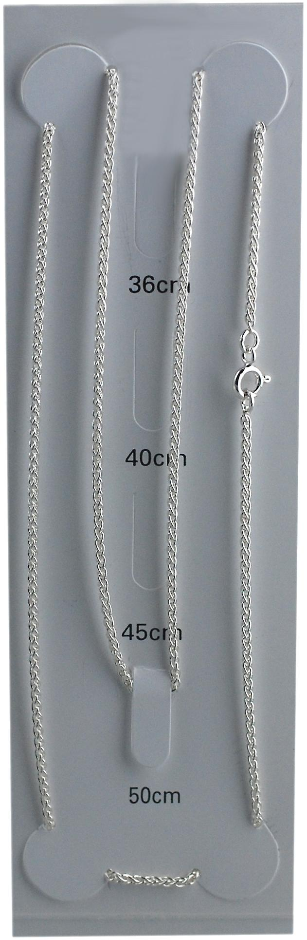 Silver 1.6mm wide Spiga Pendant Chain 20 inches