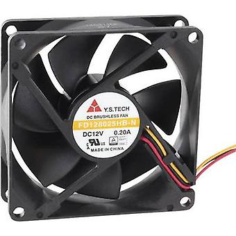 Axial fan 12 Vdc 70.68 m³/h (L x W x H) 80 x 80 x 25 mm