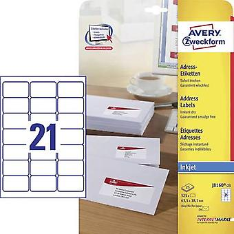 Avery-Zweckform J8160-25 Labels (A4) 63.5 x 38.1 mm Paper