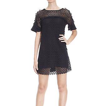 Pinko women's 1G11TWY2DPZ99 black cotton dress
