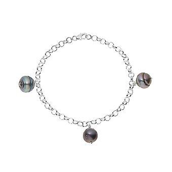 Bracelet 3 Perles de Tahiti en Argent Massif 925