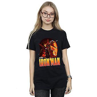 Avengers Women's Infinity krigen jern mand karakter kæreste Fit T-Shirt