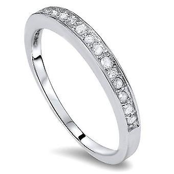 1/5ct Diamond Wedding 14K White Gold Anniversary Ring