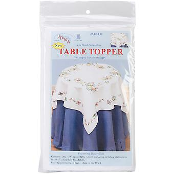 Stamped White Perle Edge Table Topper 35
