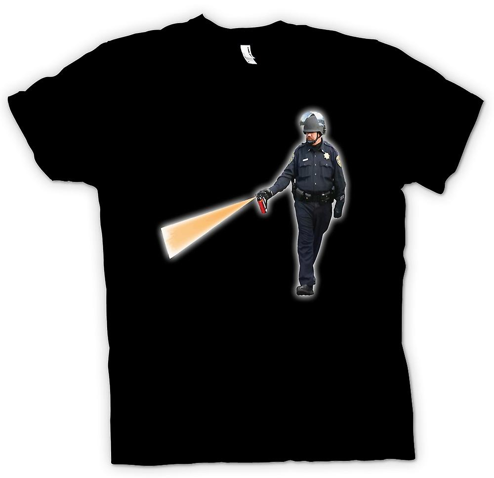Mens T-shirt - Police State - Cop Spraying Pepper Spray