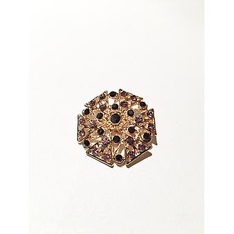 Gold and Purple Brooch