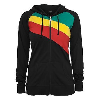 Urban classics ladies 3 Color Jersey Zip Hoodie