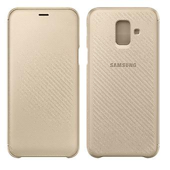 Samsung wallet cover case EF WA600CFEGWW Galaxy A6 2018 A600F protective sleeve gold