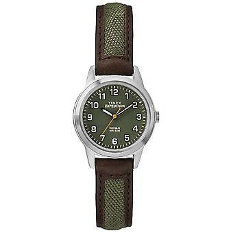 Timex Field Mini Brow Leather Green Dial TW4B12000 Watch