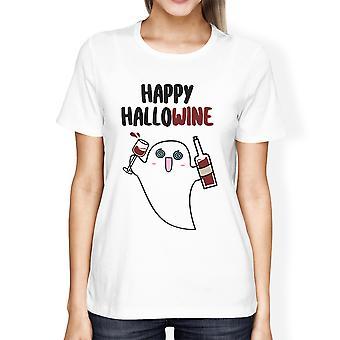 T-shirt feliz Hallowine gráfico para mulheres presentes para amantes do vinho