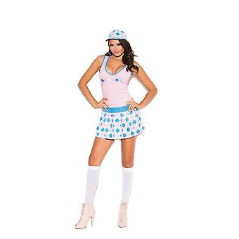 Elegant Moments Womens Golf Tease Caddy Girl Halloween Roleplay Costume