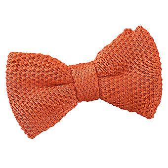 Burnt Orange Knitted Pre-Tied Bow Tie for Boys