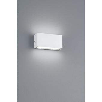 Trio Lighting Trent Modern White Matt Diecast Aluminium Wall Lamp
